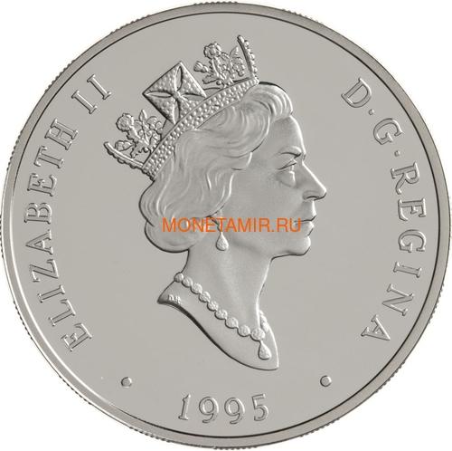 Канада 20 долларов 1995 Флит 80 Канук Омер (Боб) Нури Авиация (Canada 20$ 1995 Fleet 80 Canuck J. Omer (Bob) Noury Aviation Series 1oz Silver Coin).Арт.68 (фото, вид 1)