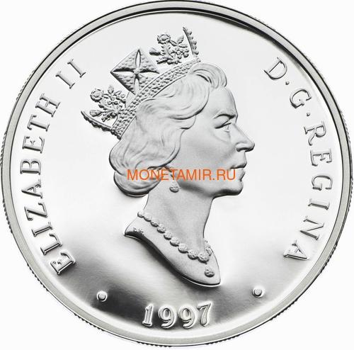 Канада 20 долларов 1997 Канадиар CT-114 Tutor Эдвард Хиггинс Авиация (Canada 20$ 1997 Canadair CT-114 Tutor Edward Higgins Aviation Series 1oz Silver Coin).Арт.68 (фото, вид 1)
