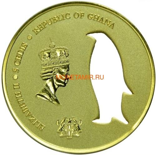 Гана 5 седи 2017 Пингвин Силуэт (Ghana 5 Cedis 2017 Penguin Silhouette 1oz Silver Coin).Арт.000419754963 (фото, вид 1)