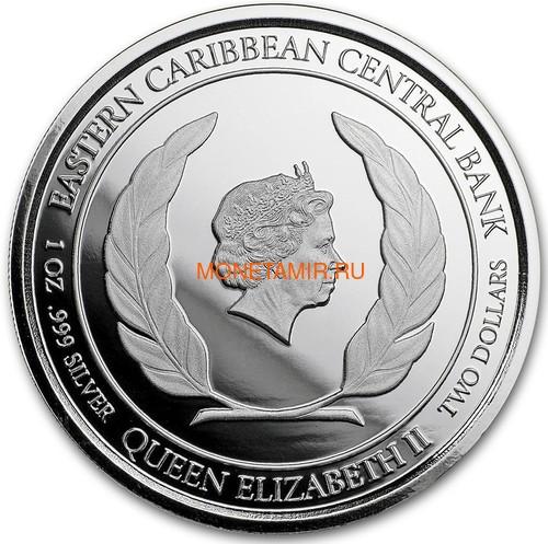 Антигуа и Барбуда 2 доллара 2018 Корабль Рамраннер (Antigua&Barbuda 2$ 2018 Ship Rum Runner 1Oz Silver Coin).Арт.000559956326 (фото, вид 1)