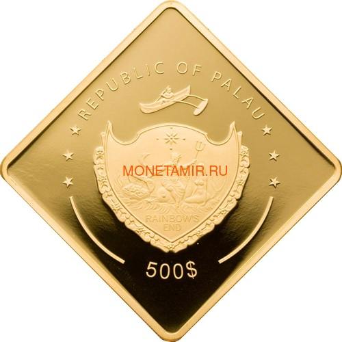 Палау 500 долларов 2009 Линкор Бисмарк Боевые Корабли (Palau 500$ 2009 The Bismarck Battleships 2,5oz Gold).Арт.60 (фото, вид 1)