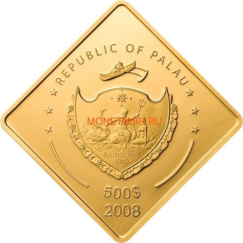 Палау 500 долларов 2008 Линкор Миссури Боевые Корабли (Palau 500$ 2008 USS Missouri Battleships 2,5oz Gold).Арт.60 (фото, вид 1)