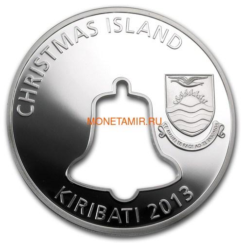 Кирибати 20 долларов 2013 Счастливого Рождества Колокол Силуэт (Kiribati 20$ 2013 Merry Christmas Bell Hole 2Oz Silver).Арт.000655845844/60 (фото, вид 2)