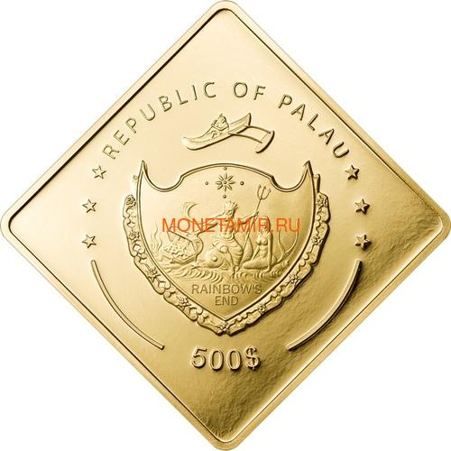 Палау 500 долларов 2010 Линкор Ришелье Боевые Корабли (Palau 500$ 2010 Richelieu Battleships 2,5oz Gold).Арт.60 (фото, вид 1)