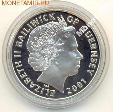 75-летие Елизаветы II. Гернси 5 фунтов 2001. (фото, вид 1)