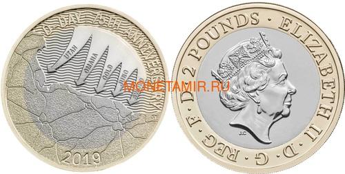 Великобритания Полный Годовой Набор 2019 (The 2019 UK Brilliant Uncirculated Annual Coin Set).Арт.67 (фото, вид 4)