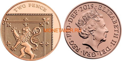 Великобритания Полный Годовой Набор 2019 (The 2019 UK Brilliant Uncirculated Annual Coin Set).Арт.67 (фото, вид 13)
