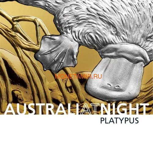 Ниуэ 100 долларов 2019 Ночная Австралия Утконос (Niue 100$ 2019 Australia at Night Platypus 1oz Gold Proof Coin).Арт.67 (фото, вид 5)