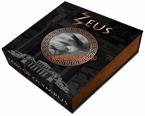 Ниуэ 5 долларов 2017 Боги Олимпа Зевс (Niue 2017 5$ Gods of Olympus Zeus 2 oz Antique Finish Silver Coin).Арт.67 (фото, вид 4)