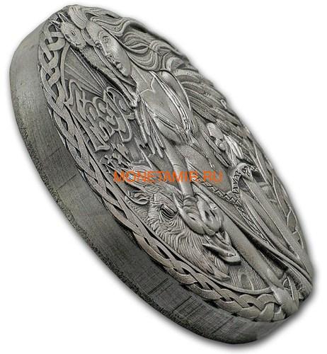 Тувалу 2 доллара 2017 Северные Боги Фрейя (Tuvalu 2$ 2017 Norse Goddesses Freya 2 oz Silver High Relief).Арт.000714354269/67 (фото, вид 1)