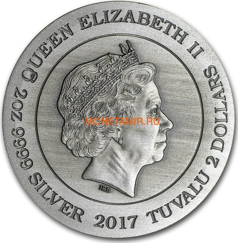 Тувалу 2 доллара 2017 Северные Боги Фрейя (Tuvalu 2$ 2017 Norse Goddesses Freya 2 oz Silver High Relief).Арт.000714354269/67 (фото, вид 2)