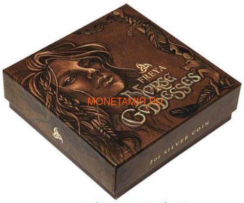 Тувалу 2 доллара 2017 Северные Боги Фрейя (Tuvalu 2$ 2017 Norse Goddesses Freya 2 oz Silver High Relief).Арт.000714354269/67 (фото, вид 5)