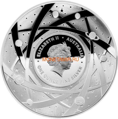 Австралия 5 долларов 2019 Солнце серия За Пределами Земли Выпуклая (Australia 2019 $5 The Earth and Beyond The Sun Silv Proof Domed Coin).Арт.67 (фото, вид 1)