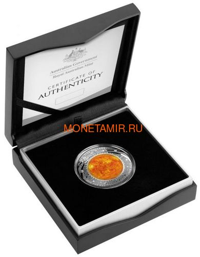 Австралия 5 долларов 2019 Солнце серия За Пределами Земли Выпуклая (Australia 2019 $5 The Earth and Beyond The Sun Silv Proof Domed Coin).Арт.67 (фото, вид 3)