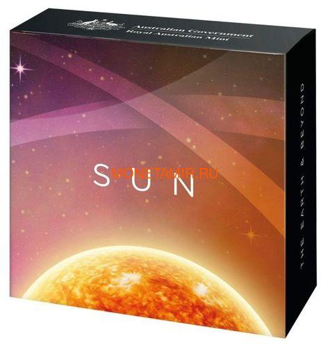 Австралия 5 долларов 2019 Солнце серия За Пределами Земли Выпуклая (Australia 2019 $5 The Earth and Beyond The Sun Silv Proof Domed Coin).Арт.67 (фото, вид 4)