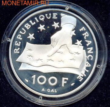 Франция 100 франков 1991. Рене Декарт (фото, вид 1)