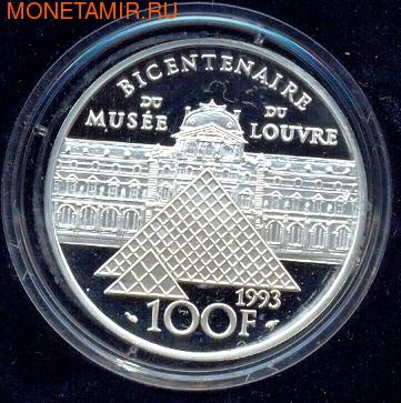 Франция 100 франков 1993. Свобода мышления (фото, вид 1)