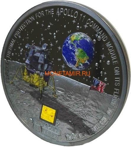 Острова Кука 20 долларов 2019 Высадка на Луну 50 лет Аполлон 11 Космос (Cook Islands 20$ 2019 Apollo 11 Moon Landing 50th Anniversary 3 Oz Silver Coin).Арт.67 (фото, вид 1)
