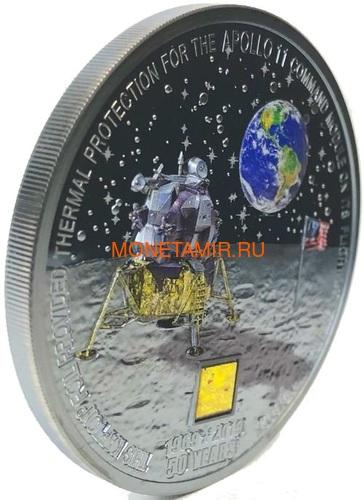 Острова Кука 20 долларов 2019 Высадка на Луну 50 лет Аполлон 11 Космос (Cook Islands 20$ 2019 Apollo 11 Moon Landing 50th Anniversary 3 Oz Silver Coin).Арт.67 (фото, вид 2)