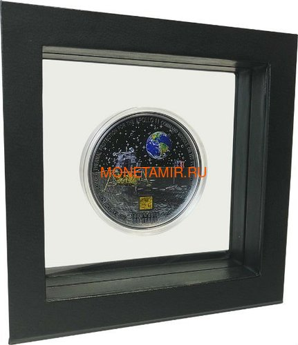 Острова Кука 20 долларов 2019 Высадка на Луну 50 лет Аполлон 11 Космос (Cook Islands 20$ 2019 Apollo 11 Moon Landing 50th Anniversary 3 Oz Silver Coin).Арт.67 (фото, вид 4)
