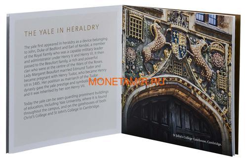 Великобритания 2 фунта 2019 Йейл Бофорт серия Звери Королевы (GB 2£ 2019 Queen's Beast Yale of Beaufort Silver Coin).Арт.67 (фото, вид 6)