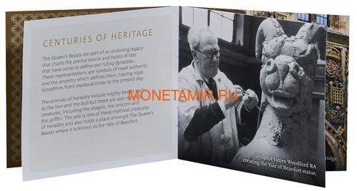 Великобритания 100 фунтов 2019 Йейл Бофорт серия Звери Королевы (GB 100£ 2019 Queen's Beast Yale of Beaufort Gold Coin).Арт.67 (фото, вид 6)