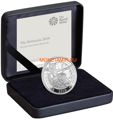 Великобритания 2 фунта 2019 Британия (GB 2£ 2019 Britannia 1 Oz Silver Coin).Арт.67 (фото, вид 2)