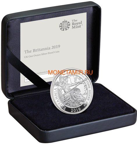 Великобритания 2 фунта 2019 Британия (GB 2£ 2019 Britannia 1 Oz Silver Coin).Арт.67 (фото, вид 2)