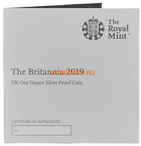 Великобритания 2 фунта 2019 Британия (GB 2£ 2019 Britannia 1 Oz Silver Coin).Арт.67 (фото, вид 3)