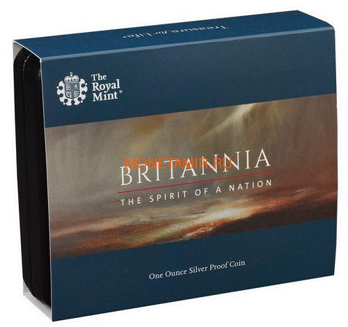 Великобритания 2 фунта 2019 Британия (GB 2£ 2019 Britannia 1 Oz Silver Coin).Арт.67 (фото, вид 4)