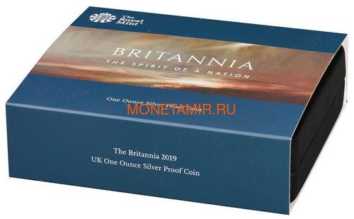 Великобритания 2 фунта 2019 Британия (GB 2£ 2019 Britannia 1 Oz Silver Coin).Арт.67 (фото, вид 5)