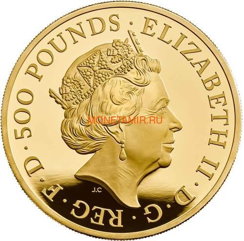 Великобритания 500 фунтов 2019 Британия (GB 500£ 2019 Britannia 5 Oz Gold Proof Coin).Арт.67 (фото, вид 1)