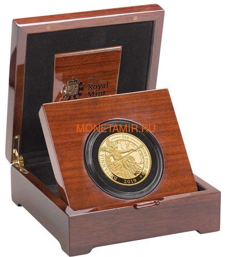 Великобритания 500 фунтов 2019 Британия (GB 500£ 2019 Britannia 5 Oz Gold Proof Coin).Арт.67 (фото, вид 2)