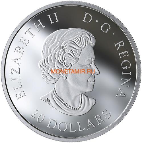 Канада 20 долларов 2019 Лиса Животные Канады (Canada 20$ 2019 Canadian Fauna The Fox Silver Coin).Арт.67 (фото, вид 1)