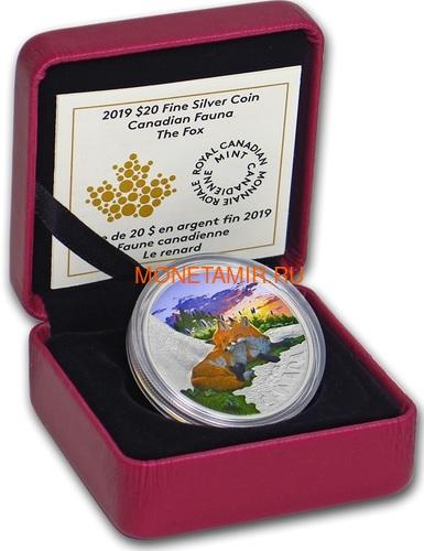 Канада 20 долларов 2019 Лиса Животные Канады (Canada 20$ 2019 Canadian Fauna The Fox Silver Coin).Арт.67 (фото, вид 2)