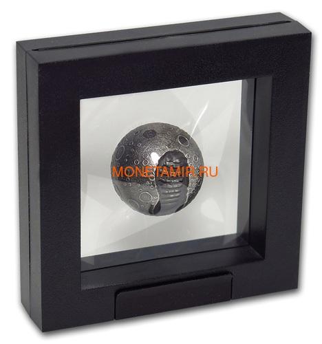 Барбадос 5 долларов 2019 Высадка на Луну 50 лет Космос Шар (Barbados 5$ 2019 Moon Landing 50th Anniversary 1 Oz Silver Coin Spherical).Арт.67 (фото, вид 5)