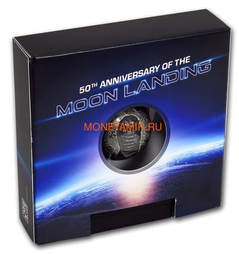 Барбадос 5 долларов 2019 Высадка на Луну 50 лет Космос Шар (Barbados 5$ 2019 Moon Landing 50th Anniversary 1 Oz Silver Coin Spherical).Арт.67 (фото, вид 7)
