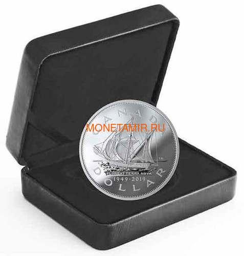 Канада доллар 2019 Корабль Мэтью Ньюфаундленд 70 лет Вхождение в Состав Канады (Canada Dollar 2019 70th Anniversary of Newfoundland Joining Canada Matthew Ship 5 oz Silver Coins).Арт.67 (фото, вид 2)