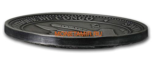 Конго 20 франков 2019 Высадка на Луну 50 лет Выпуклая Космос (Congo 20 Francs 2019 Moon Landing 50th Anniversary 1 oz Silver Domed Coin).Арт.67 (фото, вид 1)