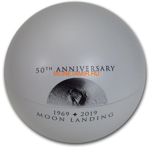 Конго 20 франков 2019 Высадка на Луну 50 лет Выпуклая Космос (Congo 20 Francs 2019 Moon Landing 50th Anniversary 1 oz Silver Domed Coin).Арт.67 (фото, вид 4)
