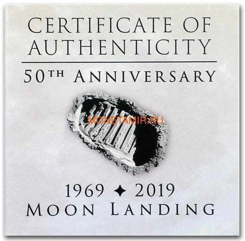 Конго 20 франков 2019 Высадка на Луну 50 лет Выпуклая Космос (Congo 20 Francs 2019 Moon Landing 50th Anniversary 1 oz Silver Domed Coin).Арт.67 (фото, вид 5)