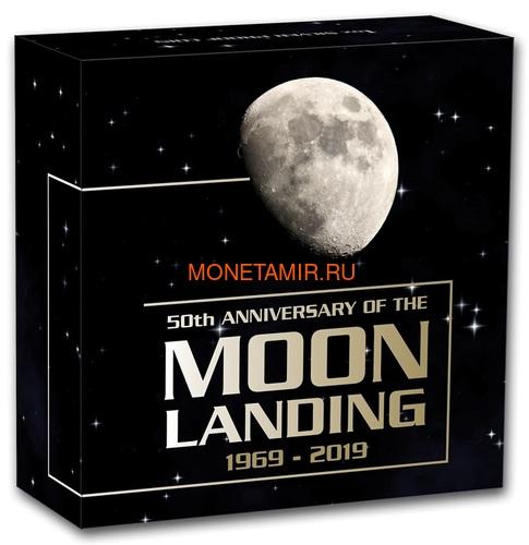 Австралия 1 доллар 2019 Высадка на Луну 50 лет Выпуклая Космос (Australia 1$ 2019 Moon Landing 50th Anniversary 1 oz Silver Coin).Арт.67 (фото, вид 4)
