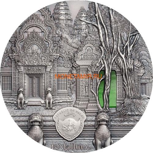 Палау 10 долларов 2019 Ангкор Кхмерская Архитектура серия Тиффани (Palau 10$ 2019 Angkor Tiffany Art 2 oz Silver Coin).Арт.67 (фото, вид 1)