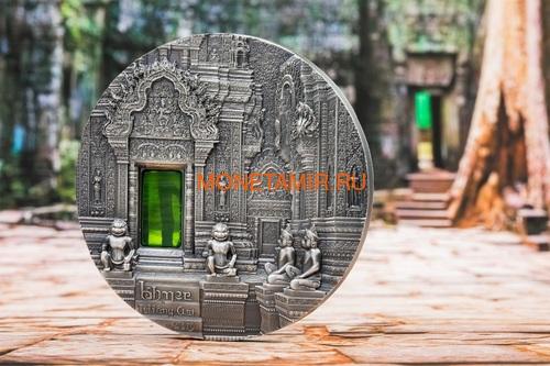 Палау 10 долларов 2019 Ангкор Кхмерская Архитектура серия Тиффани (Palau 10$ 2019 Angkor Tiffany Art 2 oz Silver Coin).Арт.67 (фото, вид 3)