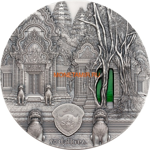 Палау 50 долларов 2019 Ангкор Кхмерская Архитектура серия Тиффани Килограмм (Palau 50$ 2019 Angkor Tiffany Art Kilo Silver Coin).Арт.67 (фото, вид 1)