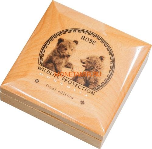 Монголия 500 Тугриков 2019 Гобийский Бурый Медведь Охрана Дикой Природы (Mongolia 500T 2019 Mongolian Gobi Bear Wildlife Protection 1oz Silver Coin).Арт.67 (фото, вид 4)