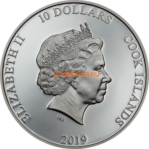 Острова Кука 10 долларов 2019 Якорь (Cook Islands 10$ 2019 Anchor Fair Winds 2 oz Silver Coins).Арт.67 (фото, вид 1)