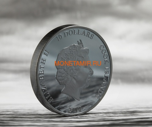 Острова Кука 10 долларов 2019 Якорь (Cook Islands 10$ 2019 Anchor Fair Winds 2 oz Silver Coins).Арт.67 (фото, вид 3)