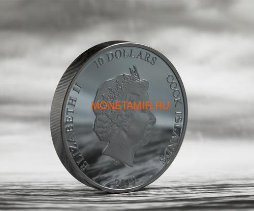 Острова Кука 10 долларов 2019 Якорь (Cook Islands 10$ 2019 Anchor Fair Winds 2 oz Silver Coins).Арт.67 (фото, вид 3)