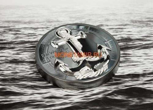 Острова Кука 10 долларов 2019 Якорь (Cook Islands 10$ 2019 Anchor Fair Winds 2 oz Silver Coins).Арт.67 (фото, вид 5)